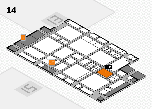 EuroShop 2017 hall map (Hall 14): stand B58