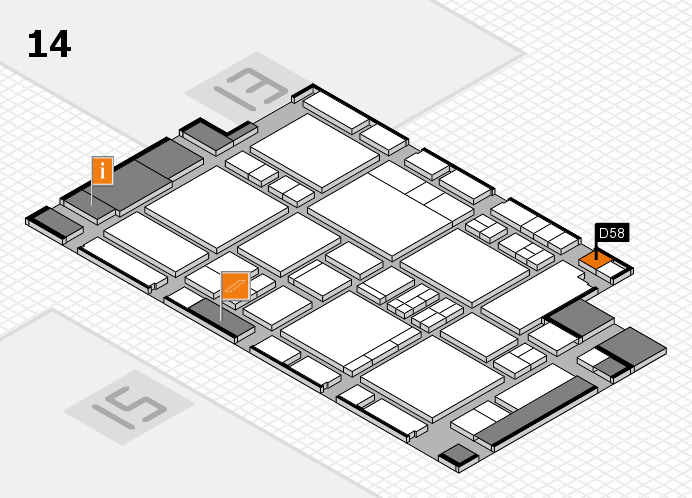 EuroShop 2017 hall map (Hall 14): stand D58