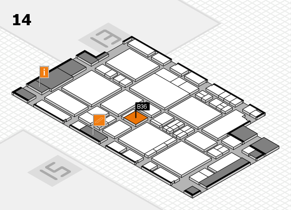 EuroShop 2017 hall map (Hall 14): stand B36