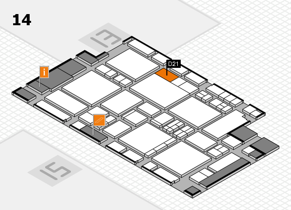 EuroShop 2017 hall map (Hall 14): stand D21