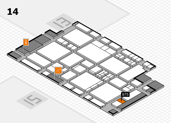 EuroShop 2017 hall map (Hall 14): stand B75