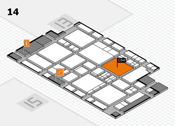 EuroShop 2017 hall map (Hall 14): stand C54
