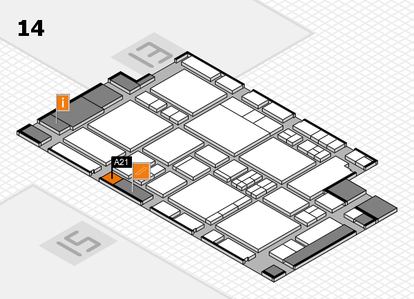 EuroShop 2017 hall map (Hall 14): stand A21