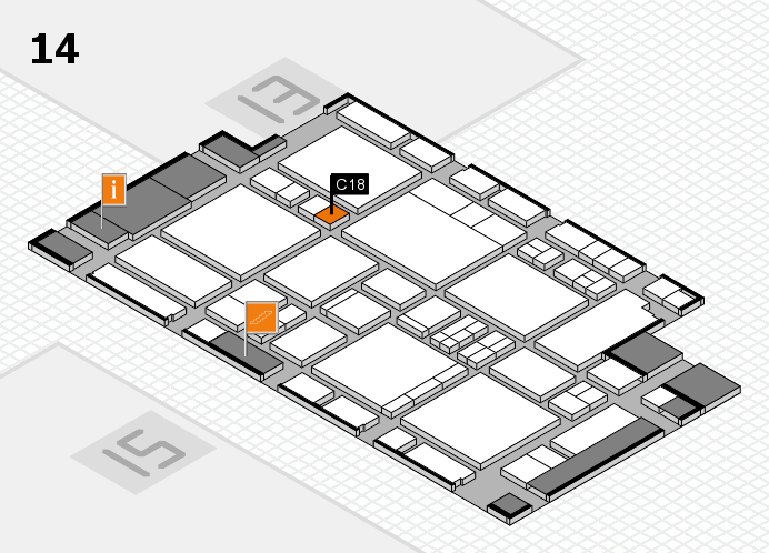 EuroShop 2017 hall map (Hall 14): stand C18