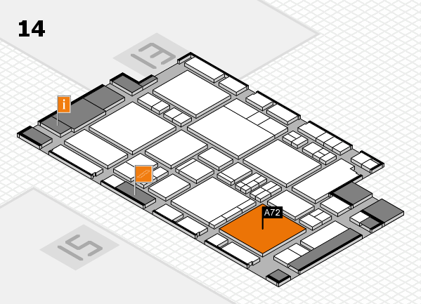 EuroShop 2017 hall map (Hall 14): stand A72