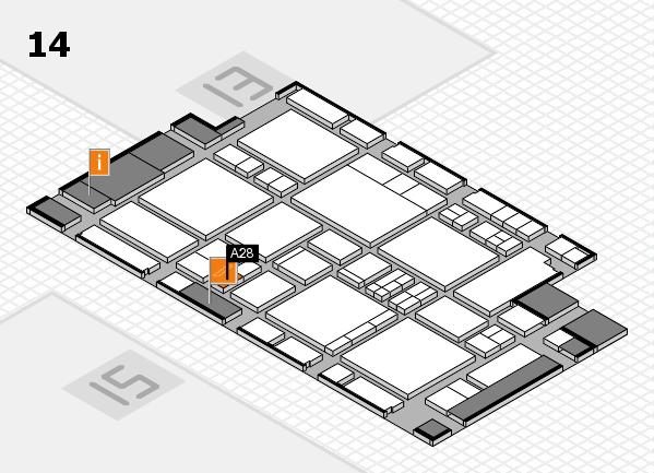 EuroShop 2017 hall map (Hall 14): stand A28