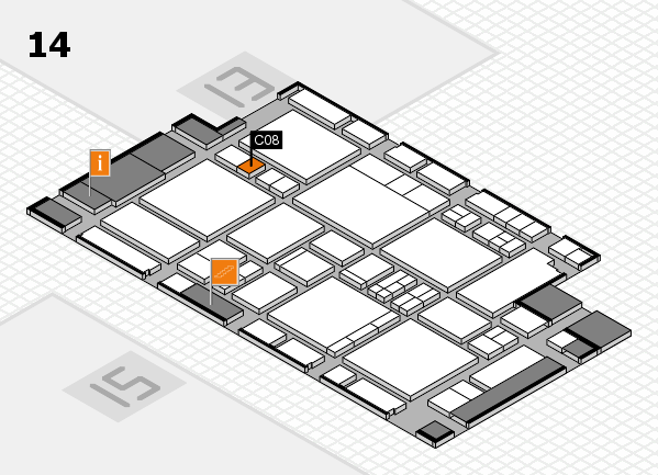 EuroShop 2017 hall map (Hall 14): stand C08