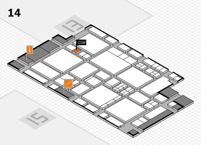 EuroShop 2017 hall map (Hall 14): stand C08