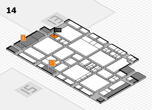EuroShop 2017 hall map (Hall 14): stand C02