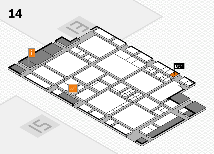 EuroShop 2017 hall map (Hall 14): stand D54