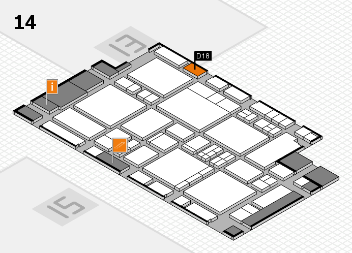 EuroShop 2017 hall map (Hall 14): stand D18