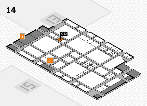 EuroShop 2017 hall map (Hall 14): stand C10