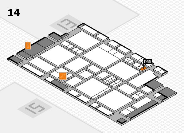EuroShop 2017 hall map (Hall 14): stand D55