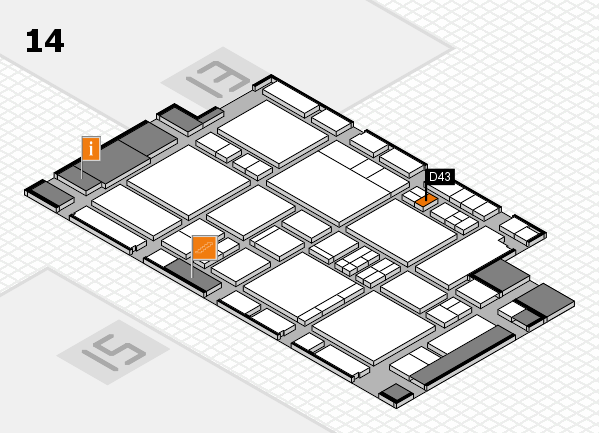EuroShop 2017 hall map (Hall 14): stand D43