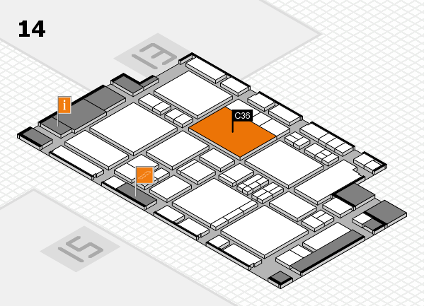 EuroShop 2017 hall map (Hall 14): stand C36