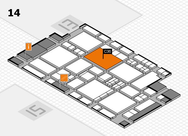 EuroShop 2017 hall map (Hall 14): stand C36
