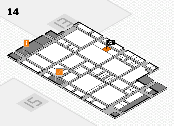 EuroShop 2017 hall map (Hall 14): stand D27