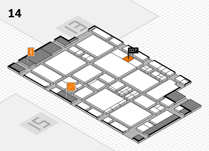 EuroShop 2017 hall map (Hall 14): stand D27