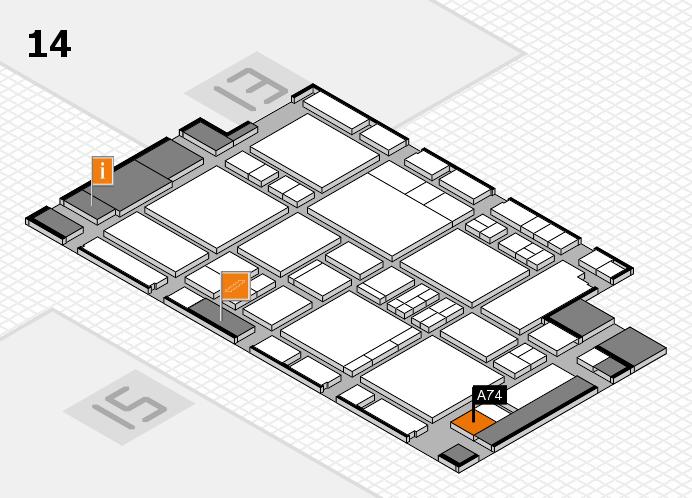 EuroShop 2017 hall map (Hall 14): stand A74