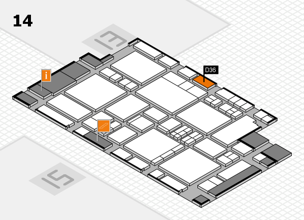 EuroShop 2017 hall map (Hall 14): stand D36