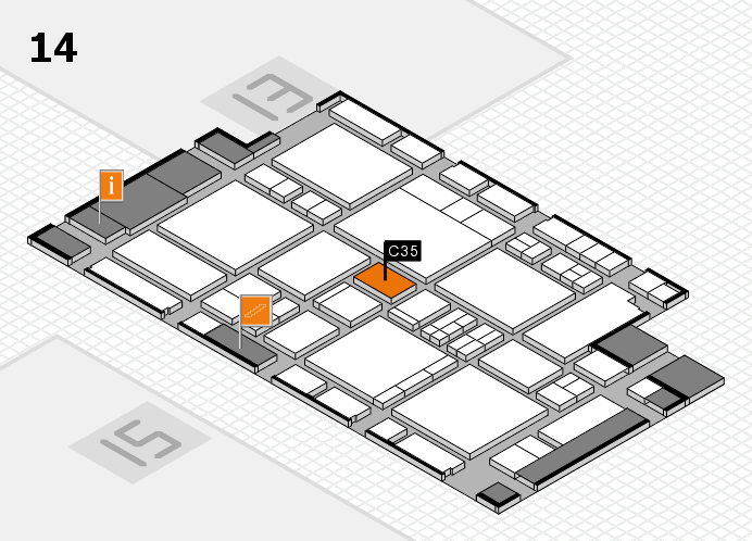 EuroShop 2017 hall map (Hall 14): stand C35