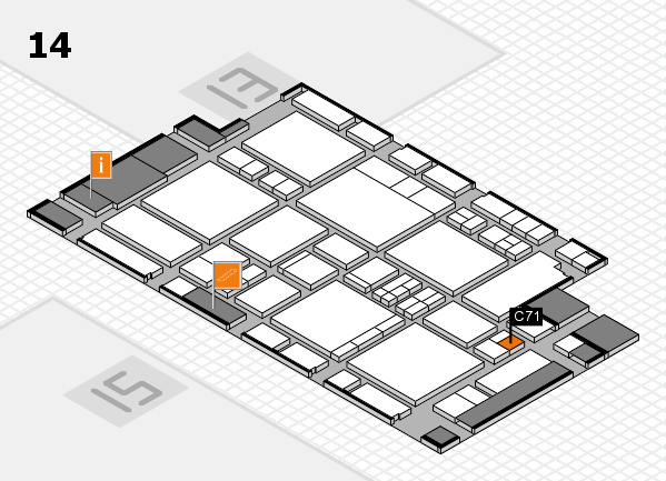 EuroShop 2017 hall map (Hall 14): stand C71