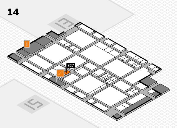 EuroShop 2017 hall map (Hall 14): stand B27