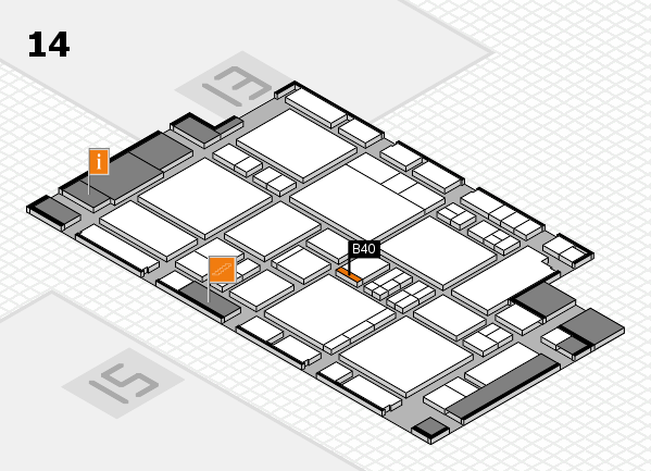 EuroShop 2017 hall map (Hall 14): stand B40