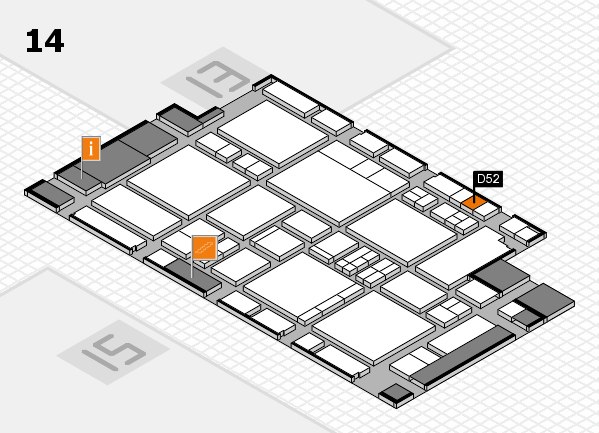 EuroShop 2017 hall map (Hall 14): stand D52