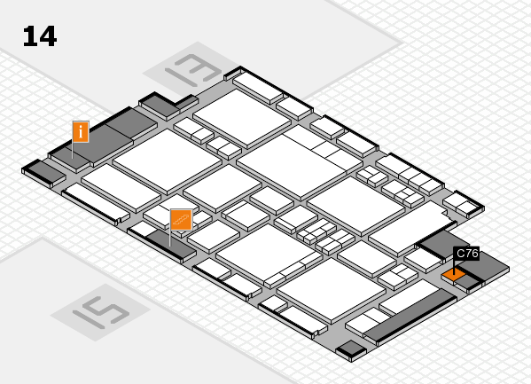 EuroShop 2017 hall map (Hall 14): stand C76