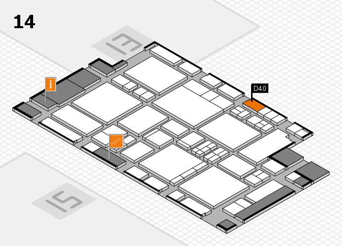 EuroShop 2017 hall map (Hall 14): stand D40