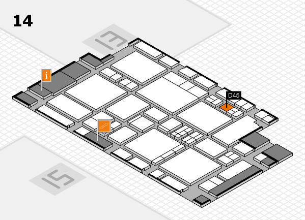 EuroShop 2017 hall map (Hall 14): stand D45