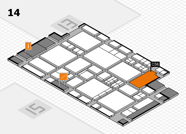 EuroShop 2017 hall map (Hall 14): stand C58