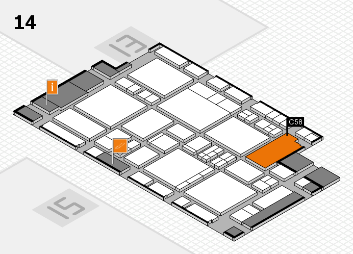 EuroShop 2017 hall map (Hall 14): stand C58