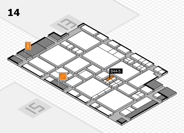 EuroShop 2017 hall map (Hall 14): stand B44-5