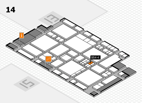 EuroShop 2017 hall map (Hall 14): stand B54-4