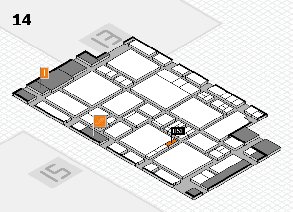 EuroShop 2017 hall map (Hall 14): stand B53
