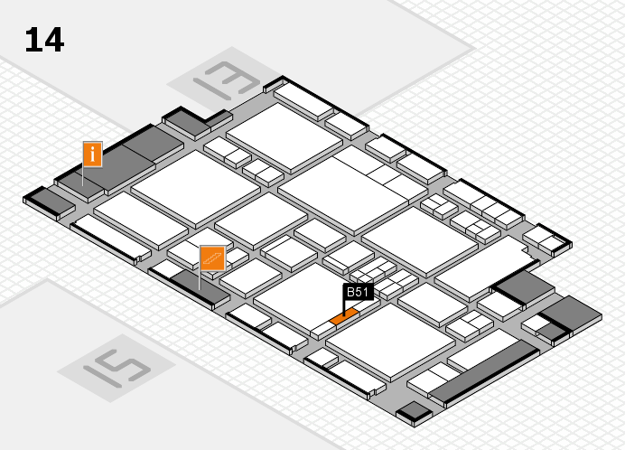EuroShop 2017 hall map (Hall 14): stand B51