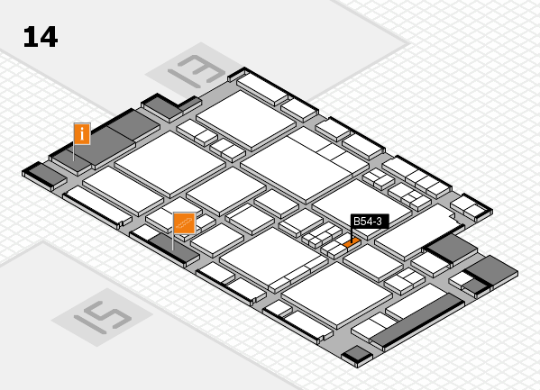EuroShop 2017 hall map (Hall 14): stand B54-3