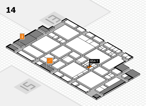 EuroShop 2017 hall map (Hall 14): stand B54-1