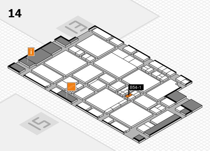 EuroShop 2017 hall map (Hall 14): stand B54-1