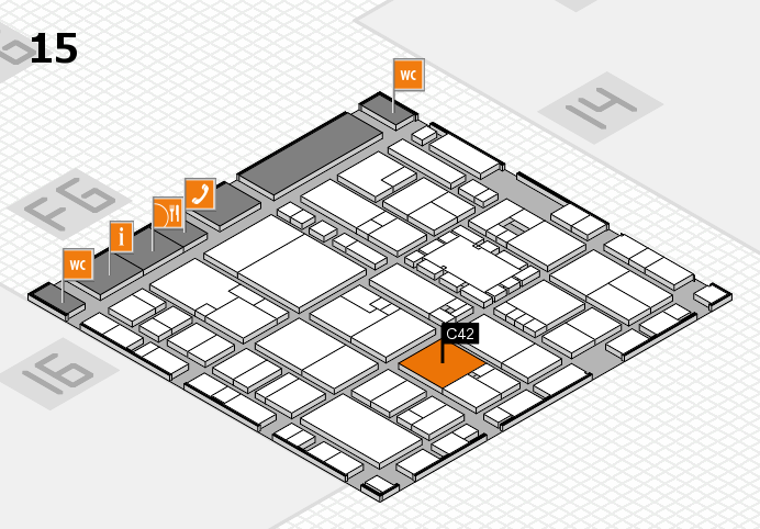 EuroShop 2017 hall map (Hall 15): stand C42