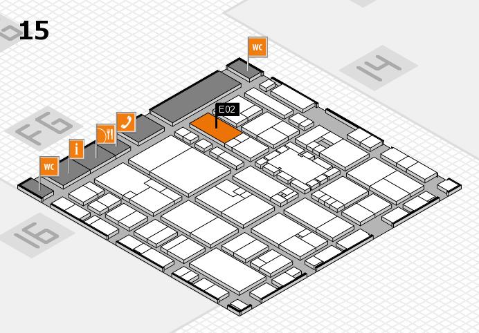 EuroShop 2017 hall map (Hall 15): stand E02