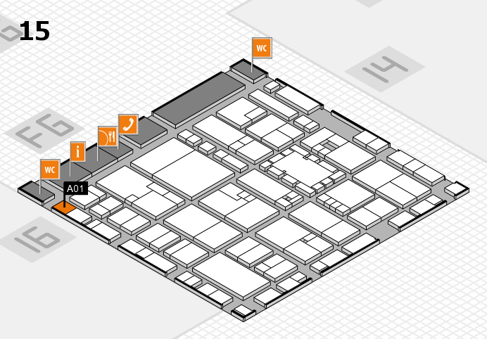 EuroShop 2017 hall map (Hall 15): stand A01