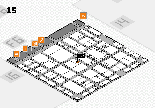 EuroShop 2017 hall map (Hall 15): stand D25