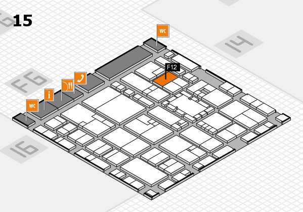 EuroShop 2017 hall map (Hall 15): stand F12