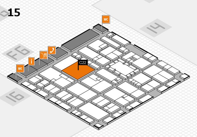 EuroShop 2017 hall map (Hall 15): stand C22