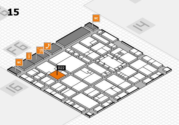 EuroShop 2017 hall map (Hall 15): stand B22