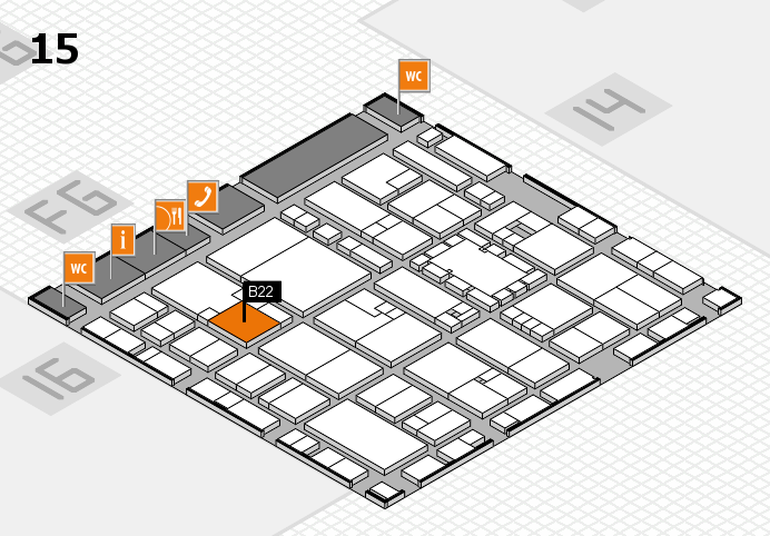 EuroShop 2017 hall map (Hall 15): stand B22