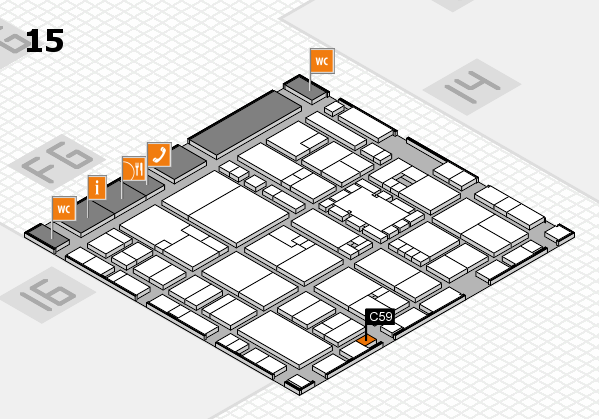 EuroShop 2017 hall map (Hall 15): stand C59
